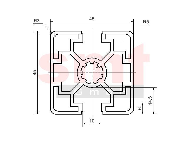 alu profil 10 45x45 2n180 item profil kompatibel. Black Bedroom Furniture Sets. Home Design Ideas