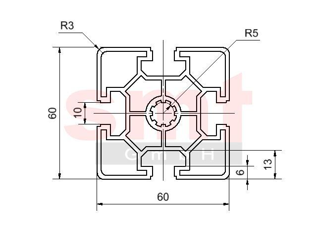 alu profil 10 60x60 leicht item profil kompatibel. Black Bedroom Furniture Sets. Home Design Ideas