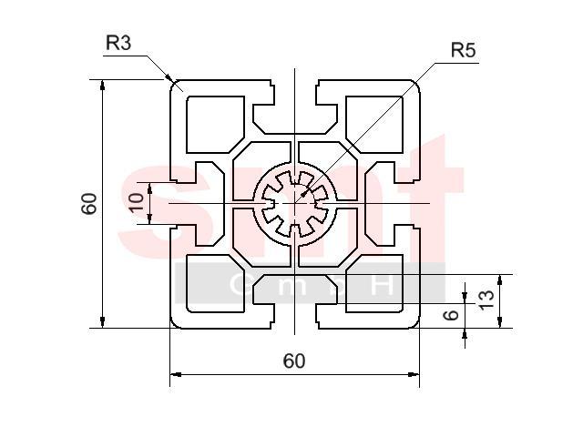 alu profil 10 60x60 schwer item profil kompatibel. Black Bedroom Furniture Sets. Home Design Ideas